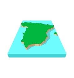 spanish map icon cartoon style vector image
