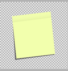 sticky note on isolated background vector image