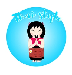 Thai woman character vector