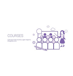 Training courses education business concept vector