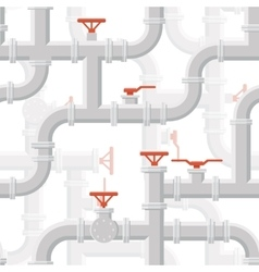 Water Piping System Seamless pattern grey vector image