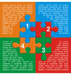 with puzzle and place for your text vector image