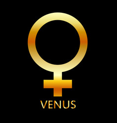 zodiac and astrology symbol of the planet venus vector image