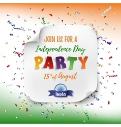 India Independence day party poster vector image