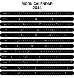 Moon calendar 2014 vector image vector image