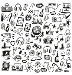 Music doodles vector image vector image