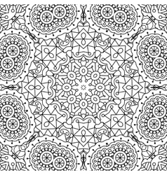 Pretty intricate full frame background on white vector image vector image