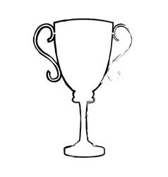 trophy award sport winner element vector image vector image
