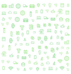 70 internet things b vector image