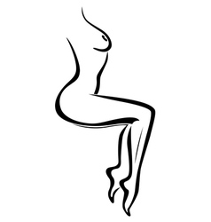 Abstract body of sexy naked woman vector image vector image