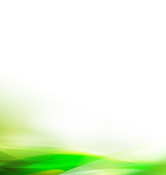 Abstract colorful green wave background vector image