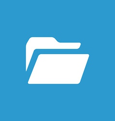 folder icon white on the blue background vector image