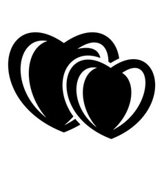 heart love icon simple black style vector image