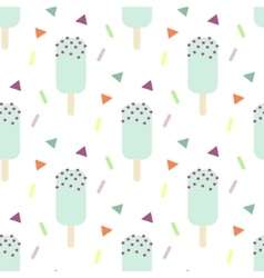 Mint ice cream seamless pattern vector image vector image