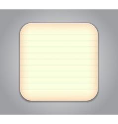 notepad app icon vector image