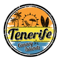 tenerife sign or stamp vector image