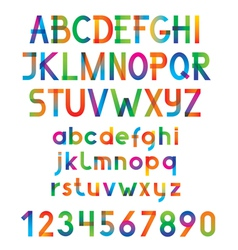 Colorful font and numbers vector image vector image