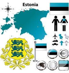 Estonia ma vector image vector image