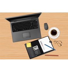 laptop computer and notebook vector image vector image