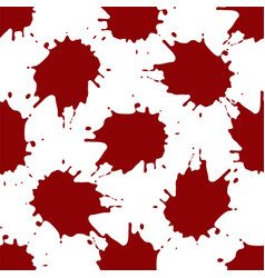 realistic blood splatters pattern vector image