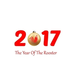 rooster symbol of 2017 vector image vector image