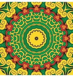 Beautiful full frame yellow geometric design vector image vector image