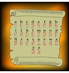 Braille alphabet vector