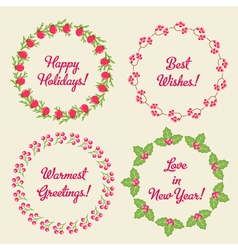Christmas Whreaths vector image vector image