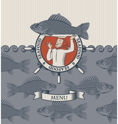 cook and the fish vector image vector image