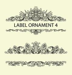 Label ornament 4 vector image vector image