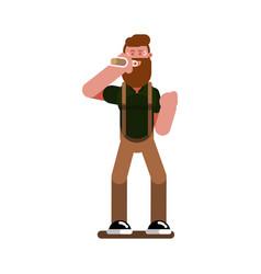 man in bar vector image