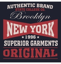 new york sport t-shirt vector image