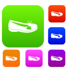 shoe set color collection vector image