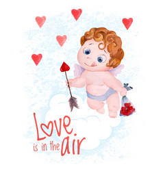 valentines day cupid angel vector image