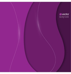 Abstract background of purple paper strips and vector image