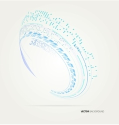 Abstract wave shapes template vector image