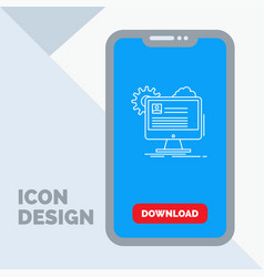 account profile report edit update line icon in vector image