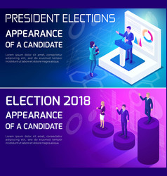 advertising concept isometrics elections vector image