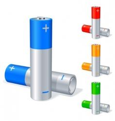 batteries vector image