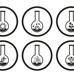 Biology icons vector image