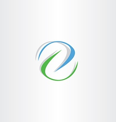 blue green letter z logo icon sign vector image