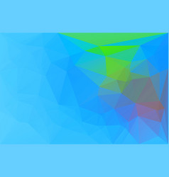 Blue green red low poly background vector