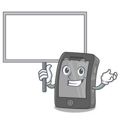 Bring board ipad in a mascot bag vector
