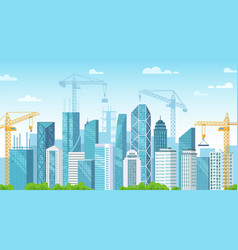 builded city city under construction building vector image
