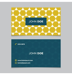 business card pattern yellow 12 vector image