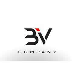 Bv logo letter design vector
