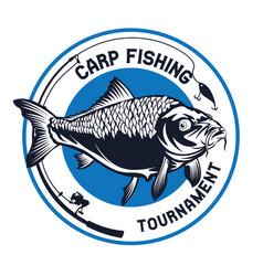 Carp fishing logo vector