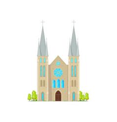 catholic religion cathedral isolated church icon vector image