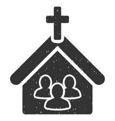 Church Icon Rubber Stamp vector