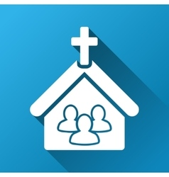 Church People Gradient Square Icon vector